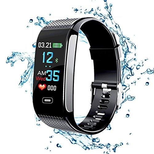 QAR Fitness Tracker HR, Smart Armband 2018 Met Stappenteller Nieuwe Activiteit Tracker Kleur Display Bloeddruk Hartslag Slaap Monitor GPS Route Tracking IP67 Waterdicht smart horloge
