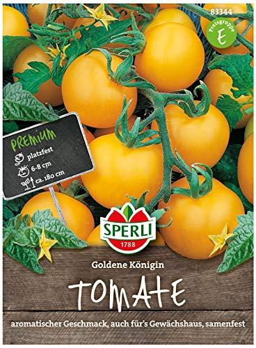 Sperli Premium Tomaten Samen Goldene Königin ; Intensiv aromatische goldgelbe Tomate ; Tomaten Saatgut