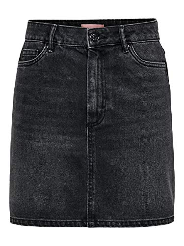 ONLY Female Jeansrock A-förmiger 36Black