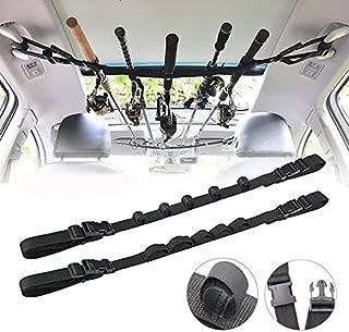 Hosmide Car Fishing Rod Holder,Nylon Fishing Rod Rack,Vehicle Fishing Rod Carrier Belt Strap