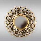 Rococo Espejo Decorativo de Madera Gold Chaine Circle de 60x60 en Oro (Envejecido)