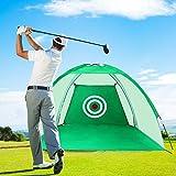 LUVODI Red de Golf 3m, Red de Entrenamiento de Golf Plegable con Bolsa Portátil, Jaula para Practicar de Golf para Interior Exterior Jardín Patio 3 x 1.8 x 2 m