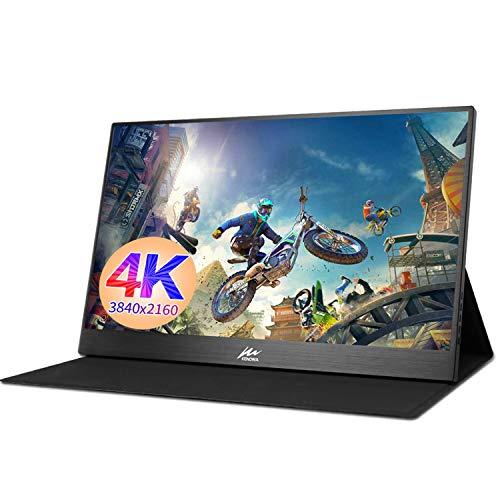 Portable hdmi Monitor Kenowa 15.6 inch 4K Ultra-Thin Portable Display 3840 x 2160 FHD 100% sRGB (Mini DP, HDMI, Type-c) for Mac Windows OS 7 8 10 Raspberry Pi B + PS3 PS4