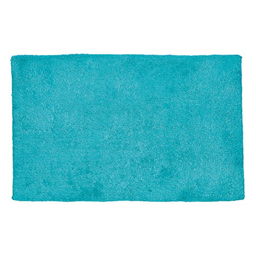 Kela 20447 tapis de bain 100% coton, 120 x 70 cm, 'Ladessa', uni bleu turquoise