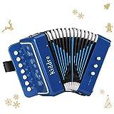 kiddire fisarmonica a bottoni di 10 tasti per bambini o principianti blue