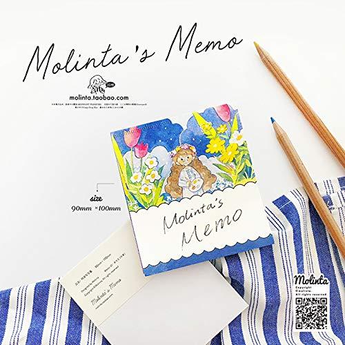メモ帳 作曲する かわいい molinta 型抜き 日記 手帳 カレンダー アルバム (1)(azhuoxiexiele)