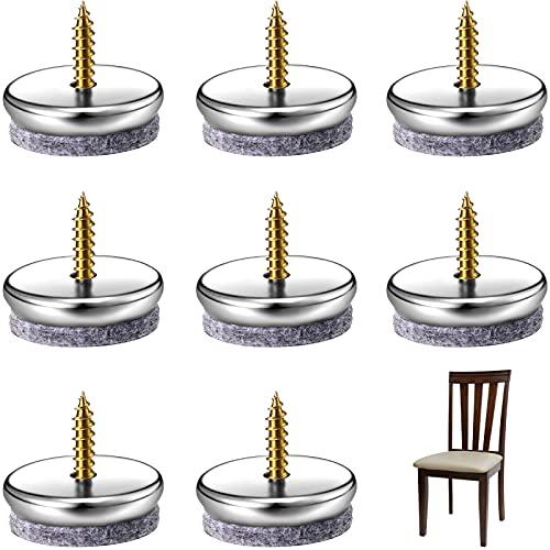 8 Stücke Möbel Pads mit Schraube Möbel Filz Pads in 28 mm Durchmesser 5 mm Dick Runde Anti-Rutsch Boden Schutz Pads für Tisch Schreibtisch Stuhlbein Hartholz Marmor Boden