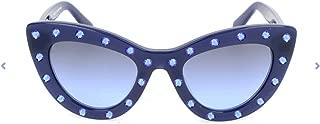 Kate Spade Women's Luann/S M23 Blue S 50 Lens I5 GRYBL SIL SP GR Sunglasses