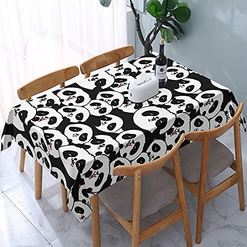 XIANGYANG - Mantel Rectangular con diseño de Panda para bebé, 54 x 72, Impermeable, Lavable, Reutilizable, para Mesa, para Comedor, Cocina, Picnic, decoración del hogar