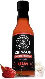 Bravado Spice Crimson Special Reserve Hot Sauce   Gluten Free   Vegan