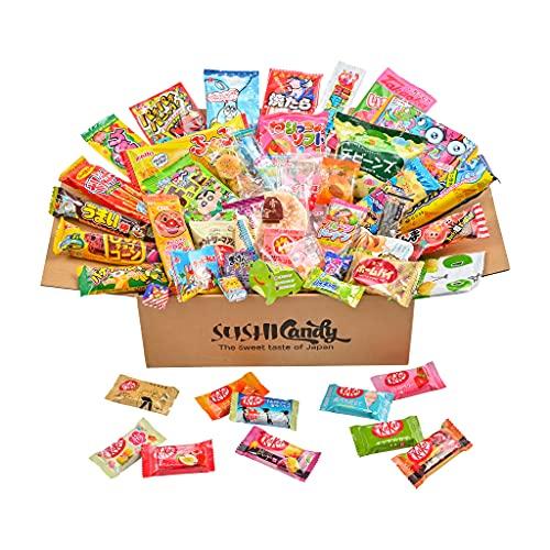 50 bonbons japonais, assortiment de kitkat japonais (10 pièces) et autres friandises et collations populaires, chocolat japonais
