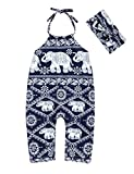 Oklady Toddler Baby Girl Summer Clothes Jumpsuits Ethnic Sling Sleeveless Romper Summer for Girls Kids 6-12 Months