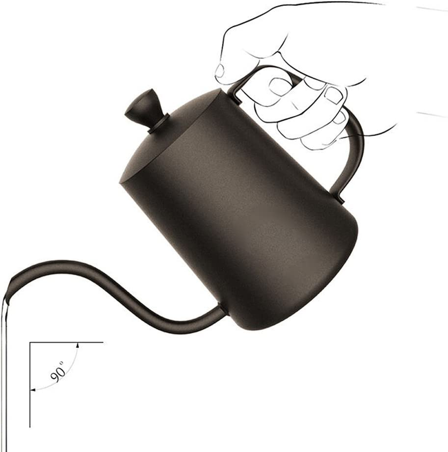 Max 79% OFF TAMUME 600ML Black Teflon Coating 5mm Gooseneck Spout Pot latest Drip f