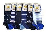 Lucchetti Socks Milano 6 pares de calcetines de hombre de algodón multicolor con estampado de hilo de Escocia fabricados en Italia Set Amerigo Taglia 35-39