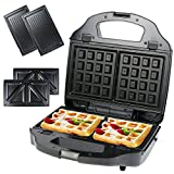Fajiabao Waffle Maker with Removable Plates Breakfast Sandwich Panini Crepe Machine Kitchen Supplies...