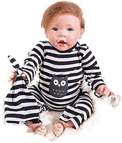 Hongge Reborn Baby Doll, Lebensechte Silikon Vinyl Reborn Puppen, Beste Geburtstagsgeschenk FüR Kinder 50cm