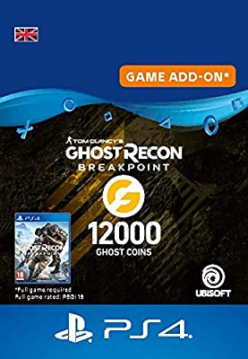 Ghost Recon Breakpoint - 9600 (+2400) Ghost Coins 12000 Coins | PS4 Download Code - UK account