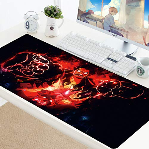 AUUUA alfombrilla de ratón One Piece Gaming Mouse Pad Large Cartoon Anime Rubber Mouse Pad Keyboard Computer Mat Pc Mousepad Con Lock Edge Game Pad