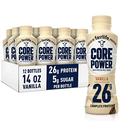 Core Power Fairlife Core Power High Protein Milk Shake, Vanilla, 14 Fl Oz (Pack of 12)