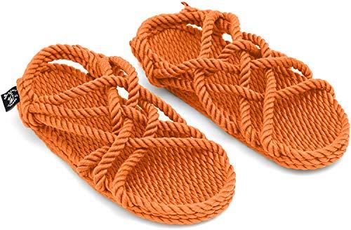 Nomadics JC Sandales en corde unisexe pour adulte - Orange - Citrouille, 38 EU