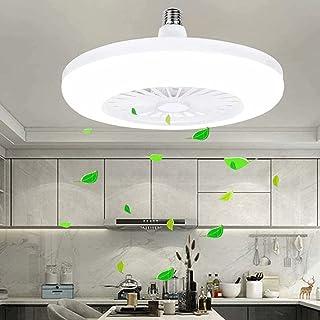 LED Ventilateur De Plafond Dimmable Invisible Plafonnier Ventilateur Moderne Vitesse du Vent Réglable Ventilateur De Lumin...
