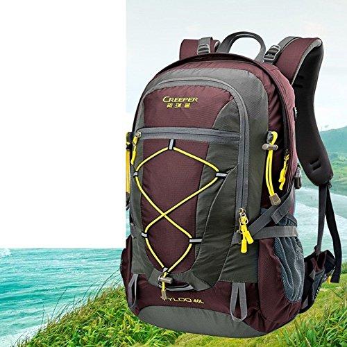 Sincere® Package / Sacs à dos / Portable / Ultraléger extérieure alpinisme sac à dos / Voyage / équitation ultralight vin 40L sac à dos-Rouge
