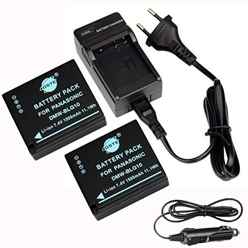 DSTE®(2 Pack)Ersatz Batterie und DC120E Reise Ladegerät Compatible für Panasonic DMW-BLG10 LUMIX DMC-GF3 DMC-GF5 DMC-GF6 DMC-GX7 DMC-LX100 Kamera
