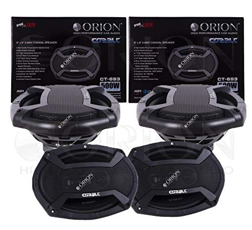ORION Cobalt Series CT-693 6X9 3-Way COAXIAL Speaker 500 WATTS MAX Music Power 4 OHMS CAR Audio CAR Stereo Speaker