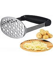 Puré de Patata, Smaier Masher Machacador Perforada de Acero Inoxidable y Superficie Lisa Diseñado Para Aplastar las Patatas
