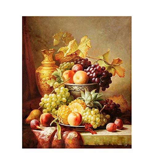 CUNYA Bild DIY Gemälde nach Zahlen Obst Wandkunst Gemälde Handgemalte Acrylfarbe nach Zahlen für Home Decor Arts