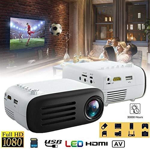 ZQALOVE 7000 lúmenes Mini portátil 3D Full HD proyector 1080P LED Teatro AV/TV/USB/proyectores HDMI con el telecontrol de la UE Reino Unido Control del AU Plug (Plugs Type : US, Ships from : China)