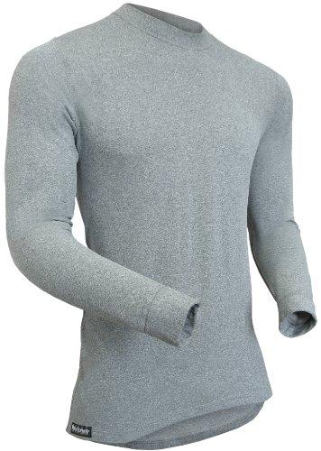 BERKNER – Maillot Thermique/sous-vêtement de Ski/sous-vêtement Fonctionnel – Silver Bion Forte – thermoactiv XXL Gris