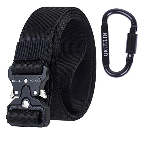 GRULLIN Tactical Rigger MOLLE Belt Quick Release Gear Clip Metal Buckle Compact Rappel CQB Military Web Nylon Outdoor…