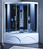 XXL Luxus LED Dampfdusche inkl. Whirlpool SET Duschtempel Komplettdusche +Radio