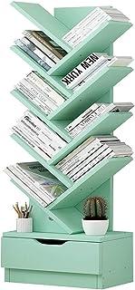 WHOJS Bibliothèque avec tiroir Conception d'arbre pour CD/Livre Support de Rangement Pratique pour Salon, Chambre, Bureau ...