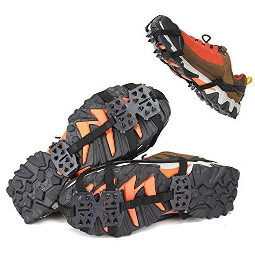 ZQTHL Crampones, Racos De Hielo Tracción Antideslizante, Racos De Hielo Tracción Antideslizante Más De Zapatos/para 24 Tacos Nieve Hielo Grips Crampones Tacos Picos,L
