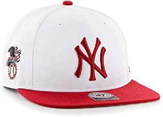 New York Yankees White / Red Sure Shot Two Tone 47 Captain Snapback Hat