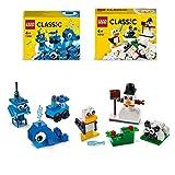 LEGO Classic Mattoncini Blu Creativi più Mattoncini Bianchi Creativi,...