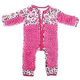 F Fityle Neugeborene Baby Overall Wischmopp Strampler Spielanzug Babybekleidung aus Baumwolle - Rosa, 80 cm