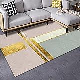 alfombras recibidor Alfombra Amarilla, balcón Aislamiento de Sonido Agua Transpirable Alfombra Alfombra niños Foam -Amarillo_80x200cm