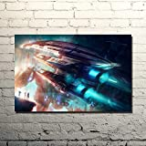 Wfmhra Mass Effect Action Shooting Game Art Poster Print Dormitorio Mural 50x75cm Sin Marco