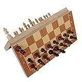 DFGRD Juego de ajedrez de Madera clásico Juego de Mesa Tablero Plegable magnético Plegable Embalaje Ajedrez de Madera