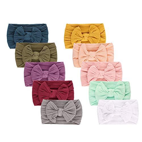 DRESHOW 10 Pcs Bebé Niña Diademas Bebé Hairband de los Bebés Recién Nacidos Diademas de Bebé Diadema Elástica Bebé Niñas Banda Para Cabeza Accesorio