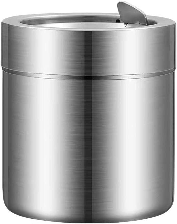 XILIN-SHOP Home Kitchen Trash Can Deskto Ashtray Steel 67% OFF of fixed price 2021 model Stainless