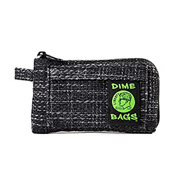 Dime Bags Padded Pouch with Soft Padded Interior   Protective Hemp Pouch for Glass with Interior Smell Proof Pocket  Black 7-Inch