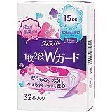 ウィスパー 1枚2役Wガード 女性用 吸水ケア 15cc おりもの&水分ケア パンティライナー 32枚入り 19cm