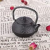 Emoshayoga Tetera de té con Gancho Recto, Tetera con Forma de Tres Curvas, Hierro Fundido japonés para decoración de...