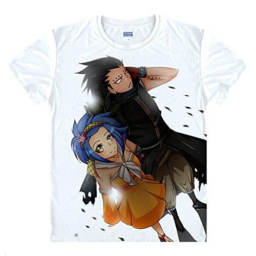 Fairy Tail Gajeel Reitfox T-Shirt Kostüm Cosplay Weiß