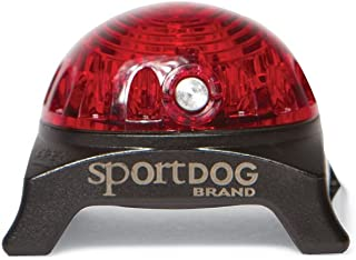 SportDOG Brand Locator Beacon - Bright, Waterproof Dog Collar Light with Carabiner - Flashing or Solid Safety Light can be Used for Night Walking, Jogging, Camping, Hunting, or Hiking