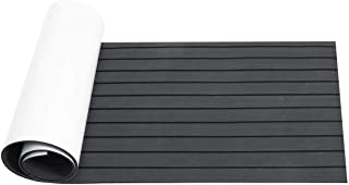 DB Decorative Materials, Boat Decking Sheet Grey+Black 2400x600x6mm Marine Flooring Faux Teak EVA Foam